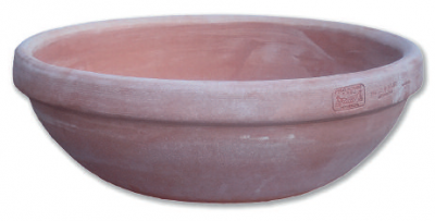 Ciotola liscia con Bordo - Schlichte Terracotta-Schale mit Rand