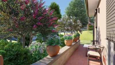Garten Design - kleine Terrasse