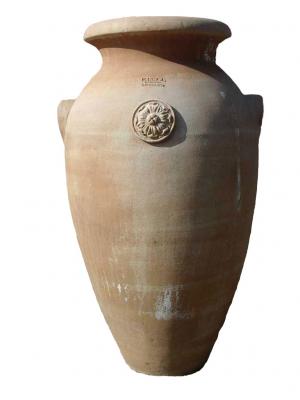Anfora con rosette - Terracotta-Amphore mit Rosette