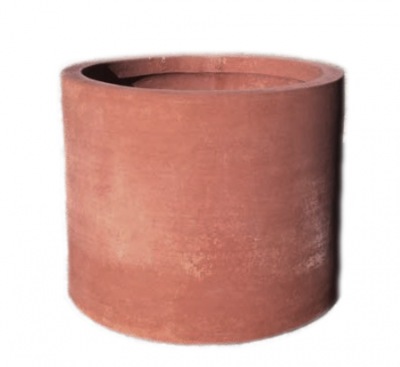 Cilindro senza bordo - Terracotta-Zylinder ohne Rand