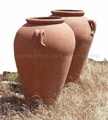 Orcio con manici - Terracotta-Ölkrug mit Henkeln