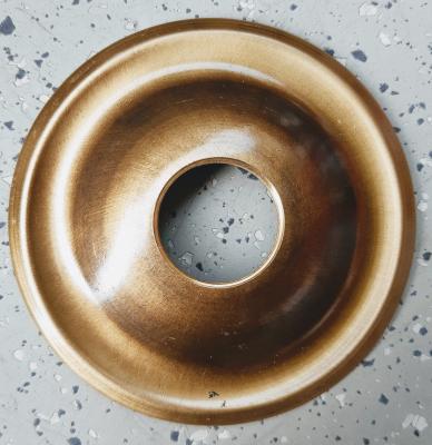 Messing-Rosette für Wasserhähne Schlicht 60-100 cm