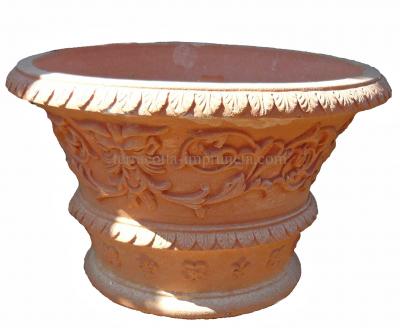 Fioriera ornata - Verzierte Terracotta-Schale