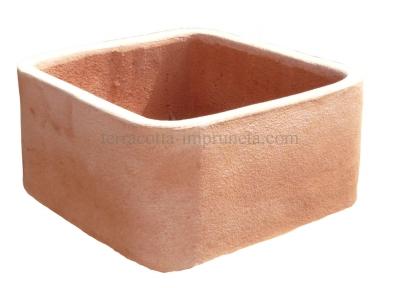 quadrato angolo rontondo - Terracotta-Kasten mit runden Ecken