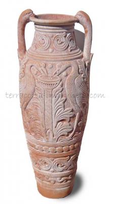 Anfora ornata  - Terracotta-Amphore mit Ornament