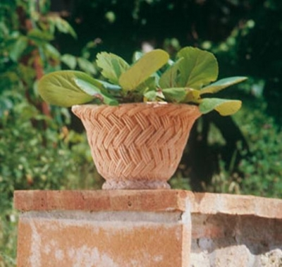 cestino vimini - Niedriger Terracottakorb