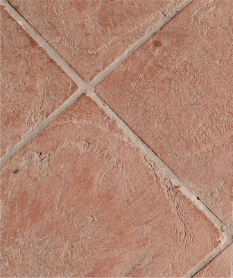 Fatto a mano - Quadratische Terracotta-Fliese