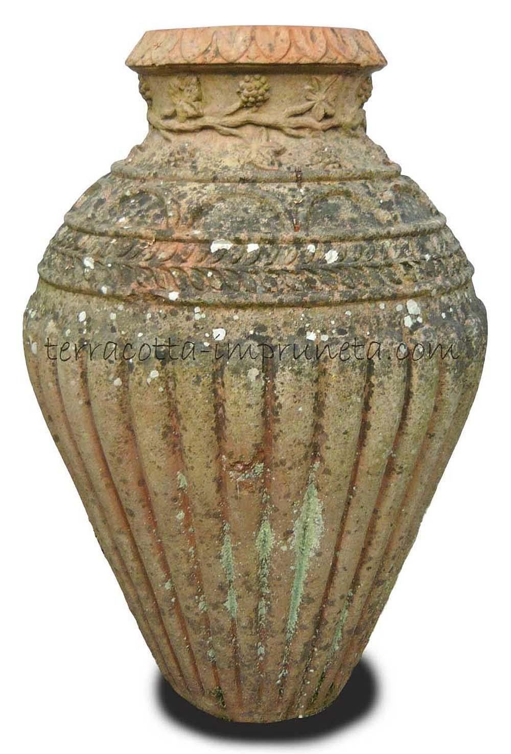 Termühlen Terracotta Impruneta_ antike Terracotta-Vase mit ...