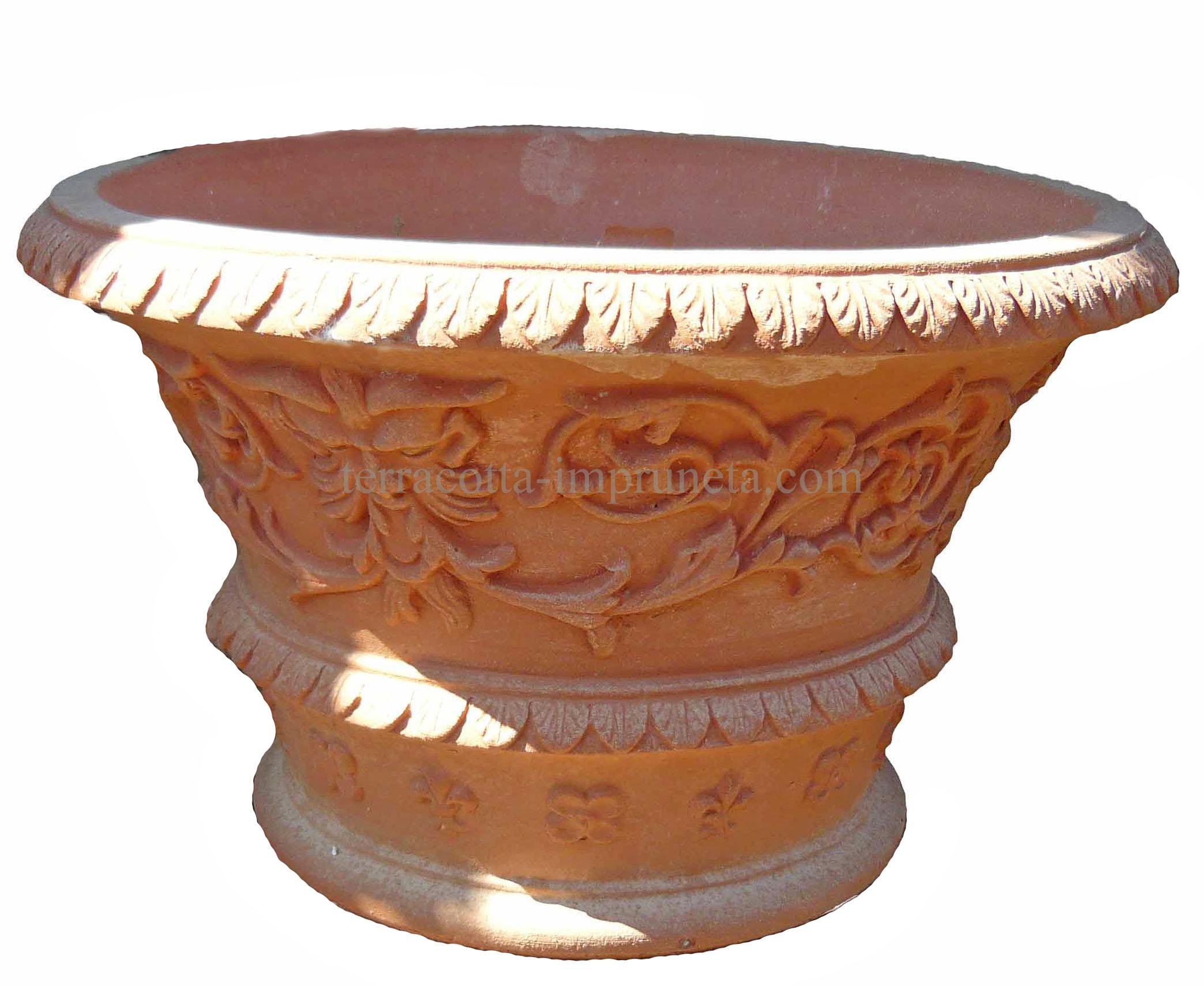 term hlen terracotta impruneta terracotta schale verziert. Black Bedroom Furniture Sets. Home Design Ideas