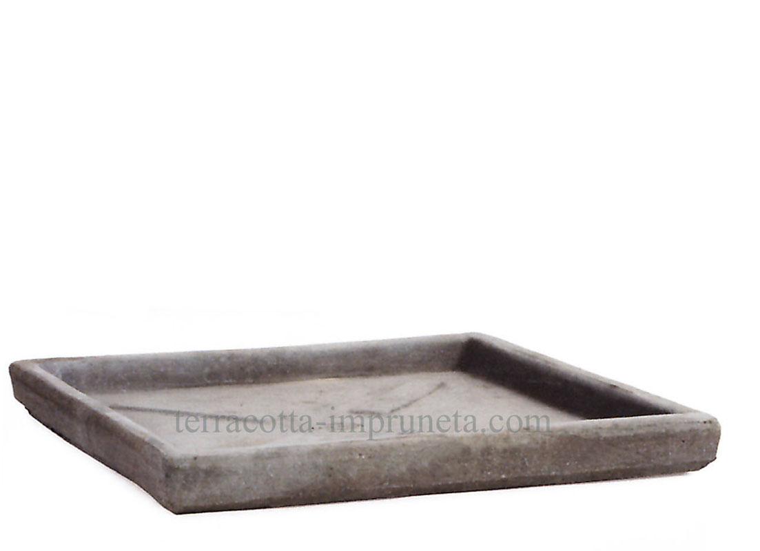term hlen terracotta impruneta quadratischer grauer terracotta untersetzer. Black Bedroom Furniture Sets. Home Design Ideas