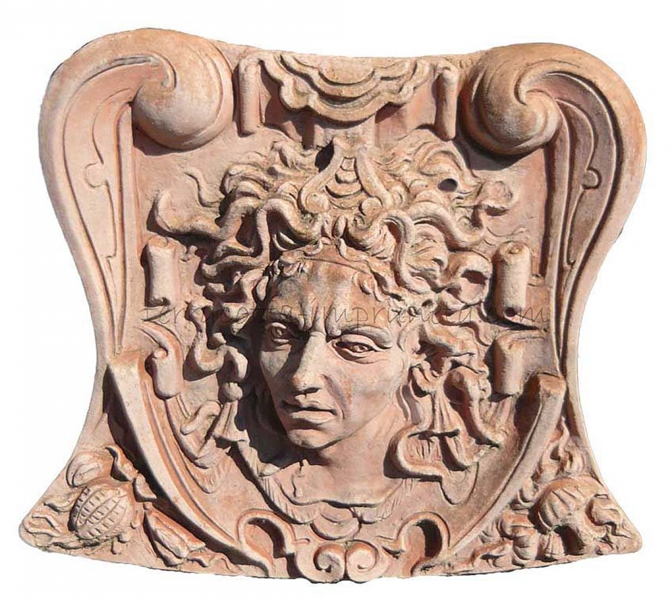 term hlen terracotta impruneta terracotta wandbild gro medusa. Black Bedroom Furniture Sets. Home Design Ideas