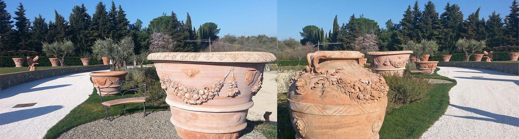 Termuhlen Terracotta Impruneta Extrem Grosse Terracotta Amphoren Und